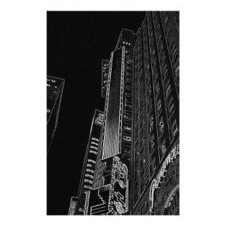 New York City Nights WalkAbout Photo Art Custom Stationery
