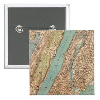 New York City, Nueva York Pin Cuadrada 5 Cm