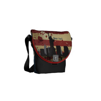 New York  City , NY American Cities CityScape Bag Courier Bags