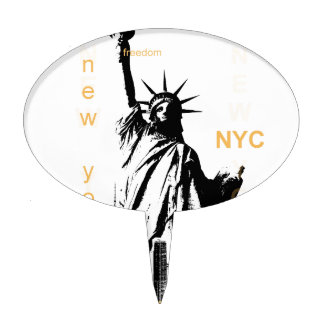 New York City Ny Nyc Statue of Liberty Cake Topper