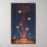 New York City, NY - Parachute Jump at World's Poster