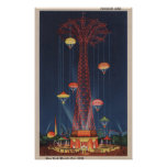 New York City, NY - Parachute Jump at World's Poster