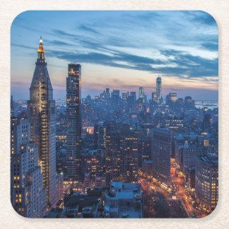 New York City, NY, USA Square Paper Coaster