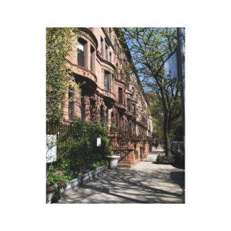 New York City NYC Brownstones Photo Canvas