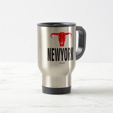 USA Themed New York City NYC by VIMAGO Travel Mug