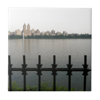 New York City NYC Central Park Reservoir Photo Ceramic Tile