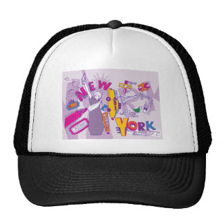 New York City NYC ~ Famous Tourist Sights Trucker Hat