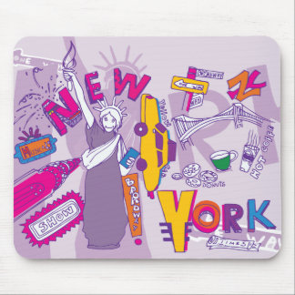 New York City NYC ~ Famous Tourist Sights Mouse Pad