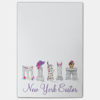 New York City NYC Happy Easter Post-It Notes