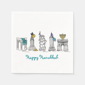 New York City NYC Happy Hanukkah Chanukah Napkins