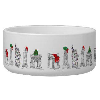 New York City NYC Holiday Christmas Gift Pet Bowl
