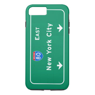 New York City NYC Interstate I-80 East Highway iPhone 8 Plus/7 Plus Case
