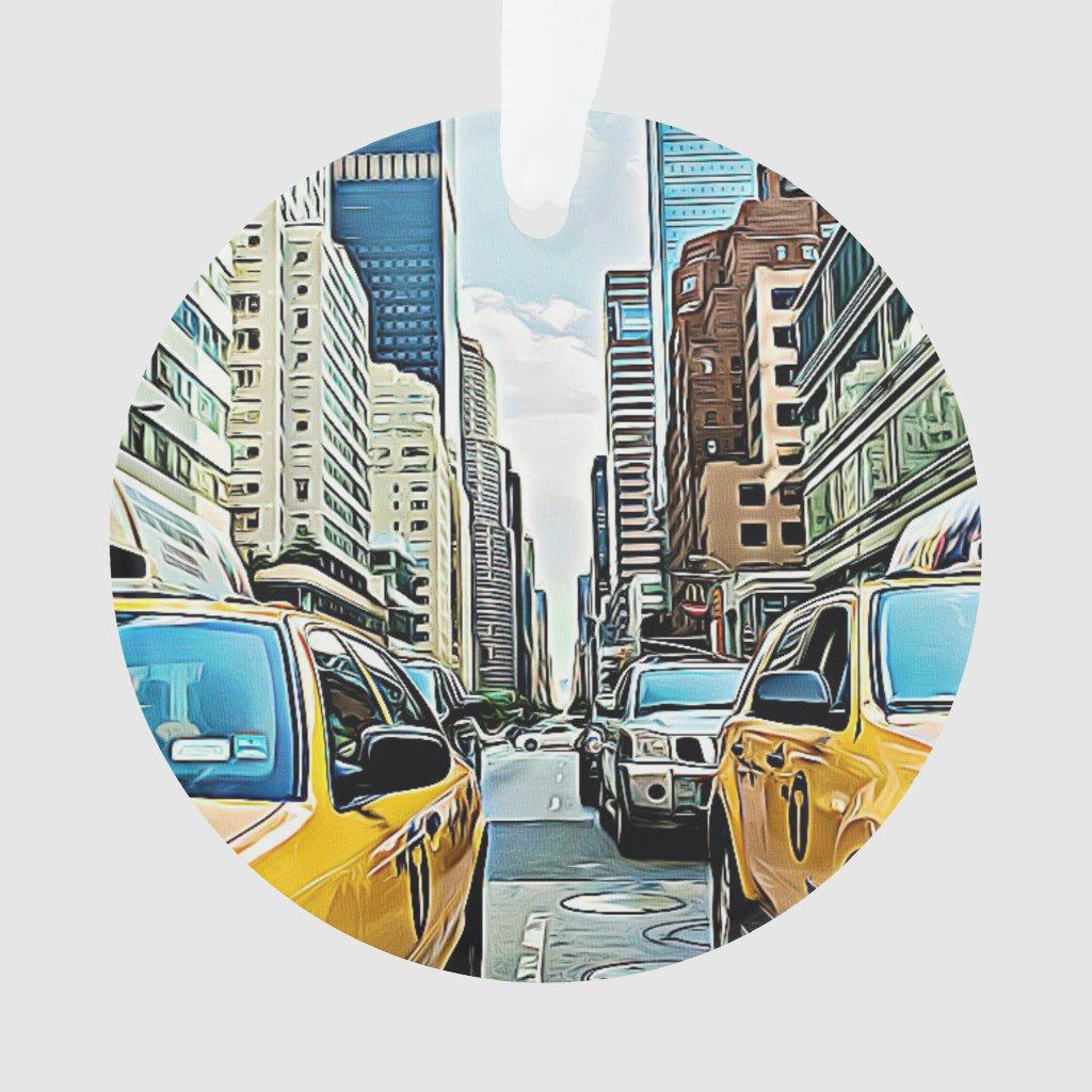 New York City NYC Manhattan Christmas Ornament