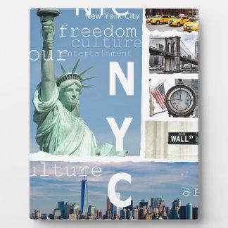 New York City Nyc Plaque