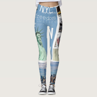New York City Nyc Pop Art Leggings