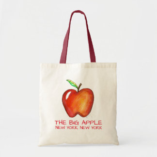 New York City NYC The Big Apple Vacation Trip Red Tote Bag