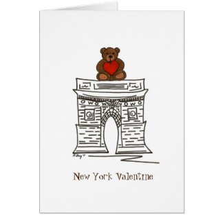 New York City NYC Valentine's Day Landmark Arch Card