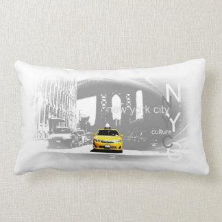 New York City Nyc Yellow Taxi Pop Art Lumbar Pillow