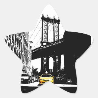New York City Nyc Yellow Taxi Pop Art Star Sticker