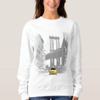 New York City Nyc Yellow Taxi Pop Art Sweatshirt