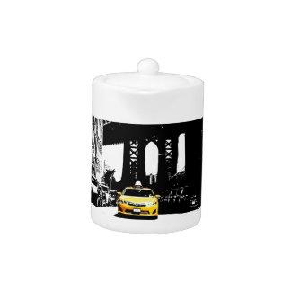New York City Nyc Yellow Taxi Pop Art Teapot