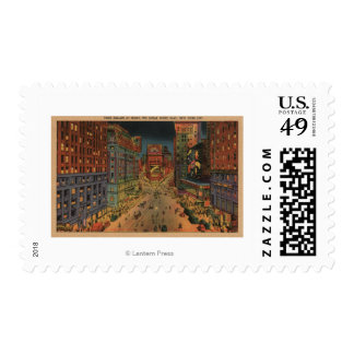 New York City, NYNight View of Times Square Postage
