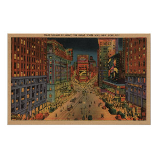 New York City, NYNight View of Times Square Poster