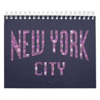 New York City on Spring Pink Rose Calendar