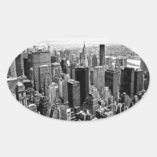 New York City Oval Sticker