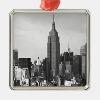 New York City Panorama Metal Ornament