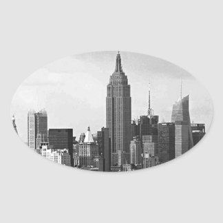 New York City Panorama Oval Sticker