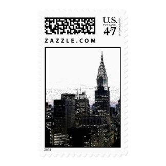 New York City Panorama Postage Stamps