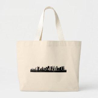 New York City panorámico Bolsa Tela Grande