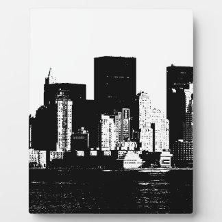 New York City panorámico Placa De Plastico