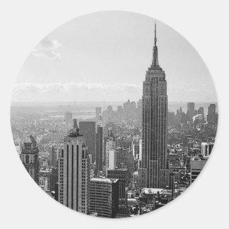 New York City Pegatinas Redondas