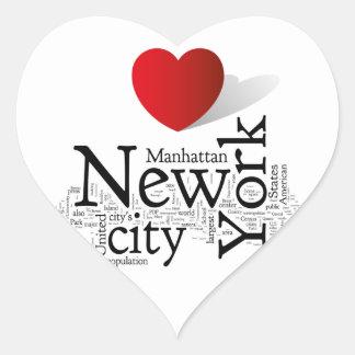 New York City Calcomanía De Corazón Personalizadas