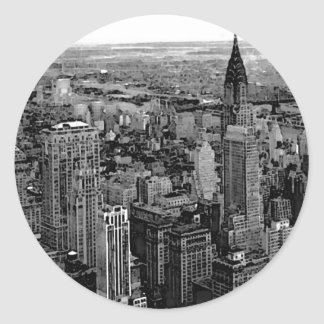 New York City Etiquetas Redondas