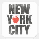 New York City Pegatina Cuadrada
