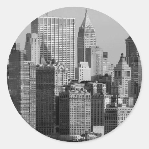 New York City Pegatina Redonda