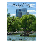 New York City People in Boats Postcard