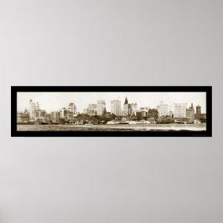 New York City Photo 1900 Print