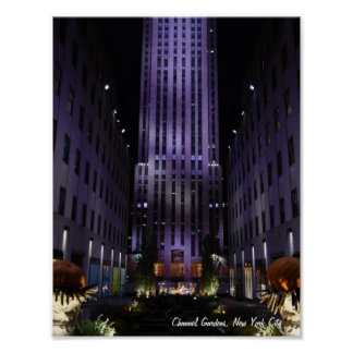 New York City Photography Channel Gardens NYC Poster