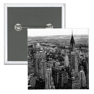 New York City Pin Cuadrado