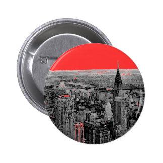New York City Pin Redondo De 2 Pulgadas