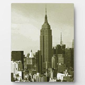 New York City Placa Para Mostrar