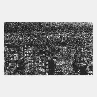 New York City Pop Art Rectangular Sticker