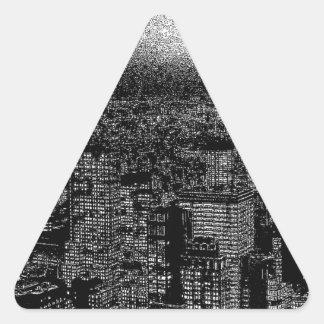 New York City Pop Art Triangle Sticker