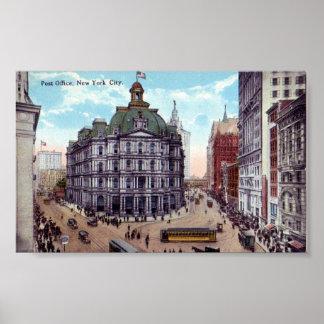 New York City, Post Office Poster