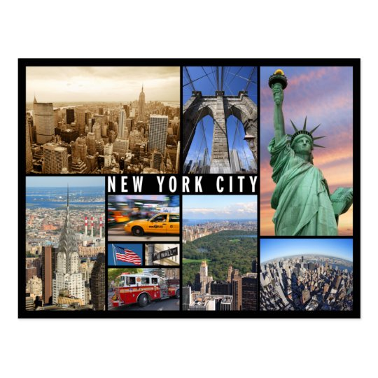 carte postale new york new york city postcard   Zazzle.com