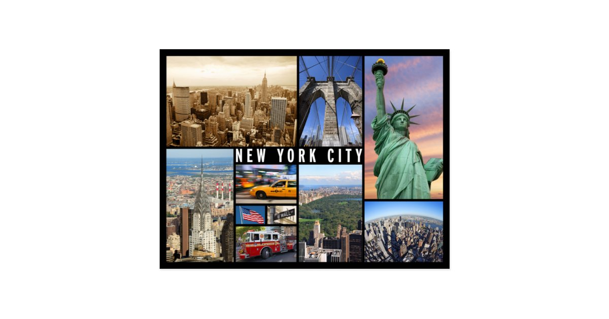 New York City Postcard Zazzle Com
